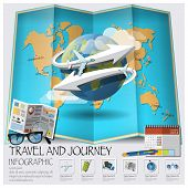 Travel And Journey World Map Infographic