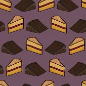 Slices Of Cake Background
