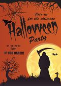 Halloween vector party invitation-3