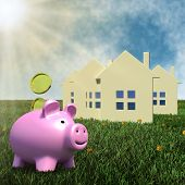 saving money for housing - finance concept