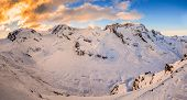 picture of rosa  - A view of Gorner glacier - JPG