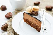 Truffle Cake With Chestnut Mousse