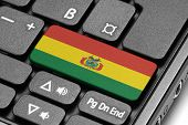Go To Bolivia! Computer Keyboard With Flag Key.