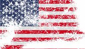 Flag Of Usa With Old Texture. Vector