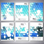 Abstract blue background, triangle design vector. Brochure, flyer or report for business, templates