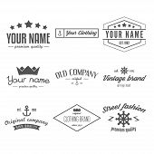 Retro Vintage Insignias, logo or Logotype set