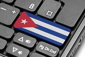 Go To Cuba! Computer Keyboard With Flag Key.