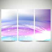 Abstract blue banners set, wave vector design