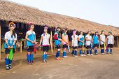 Karen Tribal Girls From Padaung Long Neck Hill Tribe Village