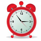 Alarm, clock, time, vector,red,  illustration