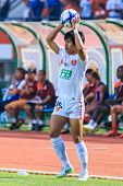 Sisaket Thailand-february 18: Chayaphat Kitpongsrithada Of Bec Tero In Action During Thai Premier Le