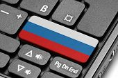 Go To Russia! Computer Keyboard With Flag Key.