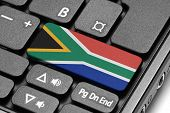 Go To South Africa! Computer Keyboard With Flag Key.