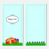 Cute easter card with place for greeting text