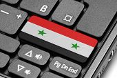 Go To Syria! Computer Keyboard With Flag Key.