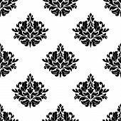 Victorian styled foliate seamless pattern