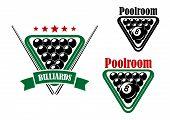 Billiard or poolroom emblem