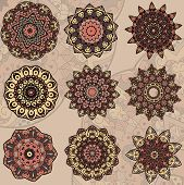 Set of 9 mandalas