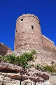 Almeria castle tower.