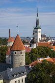 picture of olaf  - Top view on beautiful colorful buildings of Old Town TALLINN ESTONIA - JPG