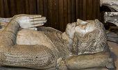 statue of Charles of etampes,  in basilica of saint-denis,
