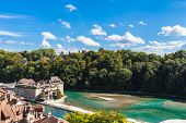 Aare River Through Berne Old Town