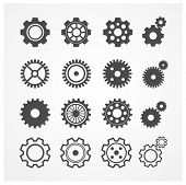 Постер, плакат: Vector gear icon set Flat Design