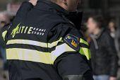 Police Officer Invigilate In Amsterdam