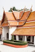 foto of gable-roof  - Typical architecture roofs in Buddhist monasteries - JPG