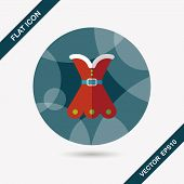 Christmas Dress Flat Icon With Long Shadow, Eps10