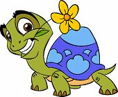 Turtle with a flower