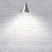 Brick Wall With Lamp