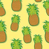 Pineapple Sticker Pattern