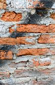 red aged brick background
