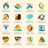 foto of internet icon  - Logo element and Abstract web Icon and globe vector symbol - JPG