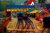 A Digitally Converted Painting Of Llangollen Railway Station North Wales Uk