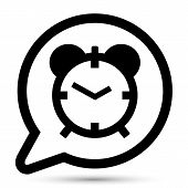 Vector bubble with clock icon