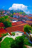 Digital Painting Of Rooftops In Kaleici, Antalya, Turkey