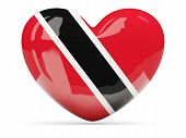 Heart Shaped Icon With Flag Of Trinidad And Tobago