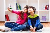 Children taking a selfie