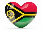 Heart Shaped Icon With Flag Of Vanuatu