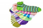 Many Striped Female Ankle Style Socks