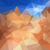 Vector Polygonal Background - Triangular Design In Sand And Sky