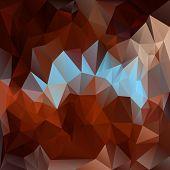 Vector Polygonal Background - Triangular Design In Dark Colors