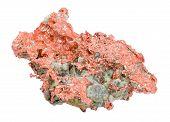 Native Copper Over White Background