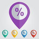 vector percent flat