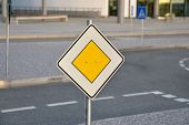 pic of driving school  - detail shot of traffic signs from a kids driving school