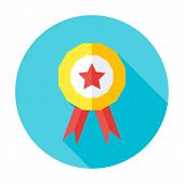 Competition Award Flat Circle Icon