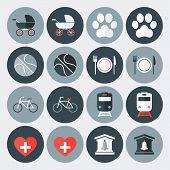 Lifestyle Symbols Flat Icons Set