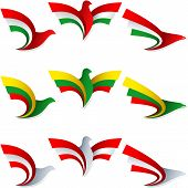 Bird Fly Flag Sign Symbol Insignia Hungary Lithuania Austria